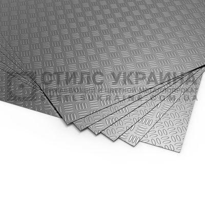 Лист алюминиевый рифленый (квинтет) 2 мм 1050 (АД0, А5) купить цена алюминий